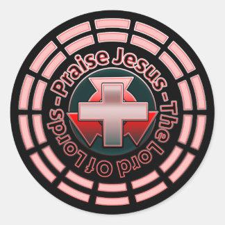 Pegatina Redonda Alabanza Jesús el señor Of señor Round Sticker