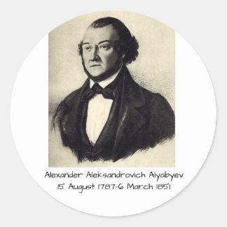 Pegatina Redonda Aleksandr Aleksandrovich Alyabyev