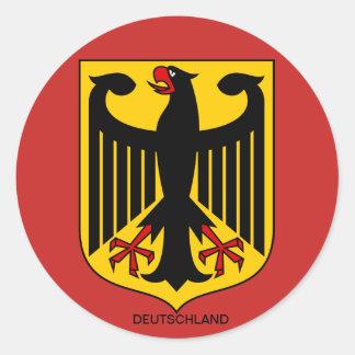 Pegatina Redonda Alemania escudo de armas de pegatinas Grandes