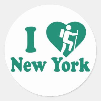 Pegatina Redonda Alza Nueva York