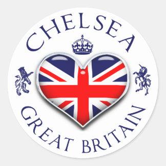 Pegatina Redonda Amo a Chelsea