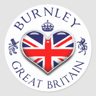 Pegatina Redonda Amo Burnley