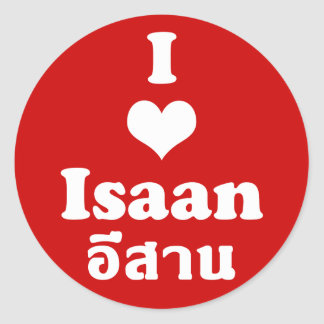 Pegatina Redonda Amo el ❤ Tailandia de Isaan