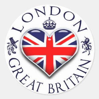 Pegatina Redonda Amo Londres