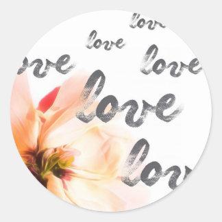 Pegatina Redonda Amor del amor del amor