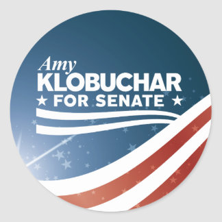 Pegatina Redonda Amy Klobuchar para el senado