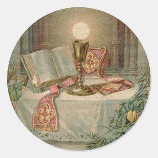 Pegatina Redonda Aniversario de la ordenación del sacerdote