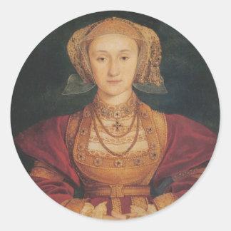 Pegatina Redonda Anne de los pegatinas de Cleves