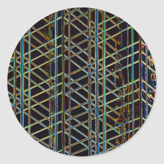 Pegatina Redonda Arquitectura abstracta