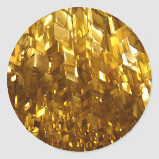 Pegatina Redonda Arte abstracto del techo del oro