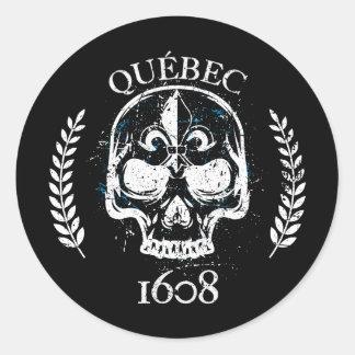 Pegatina Redonda Autoadhesivo (x20_ redondos Quebec biker