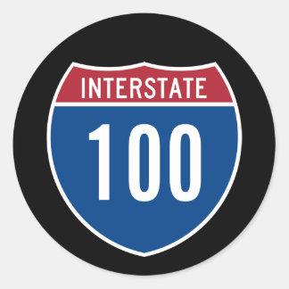 Pegatina Redonda Autopista 100