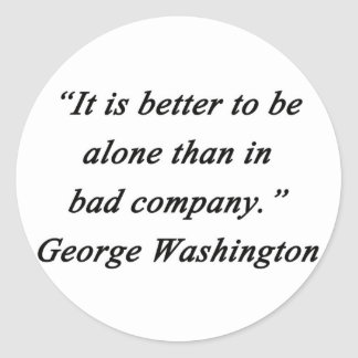 Pegatina Redonda Bad Company - George Washington