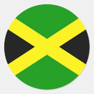 Pegatina Redonda ¡Bajo costo! Bandera de Jamaica