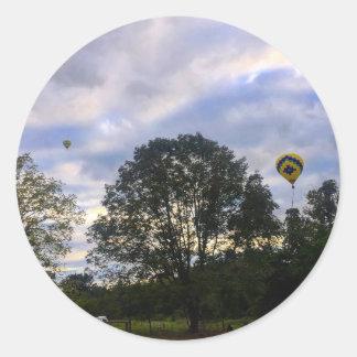 Pegatina Redonda Balón de aire