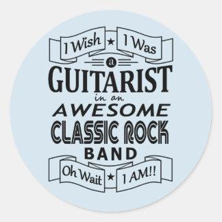Pegatina Redonda Banda de rock clásica impresionante del