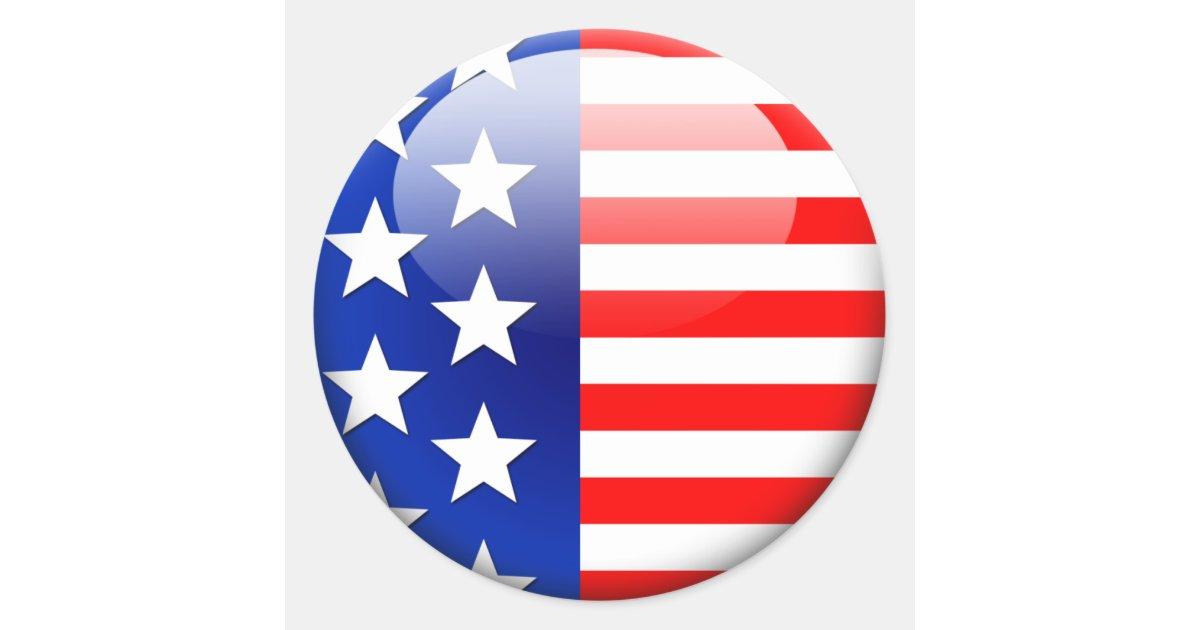 Resultado de imagen para bandera de eeuu redonda