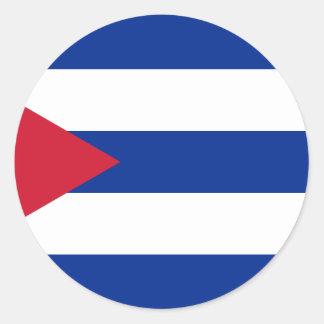 Pegatina Redonda Bandera cubana - Bandera Cubana - bandera de Cuba