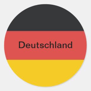 Pegatina Redonda Bandera de Alemania o de Deutschland