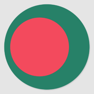 Pegatina Redonda Bandera de Bangladesh