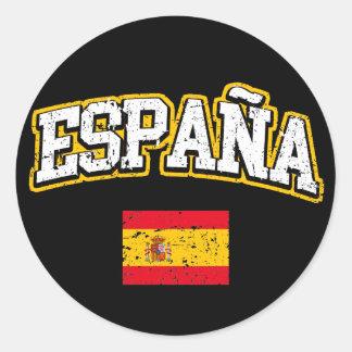 Pegatina Redonda Bandera de España