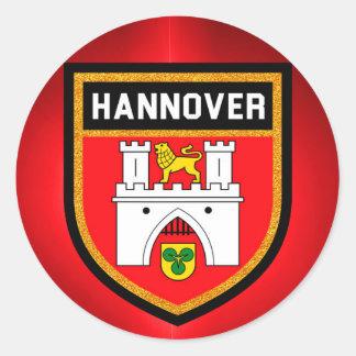 Pegatina Redonda Bandera de Hannover