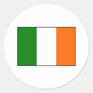Pegatina Redonda Bandera de Irlanda