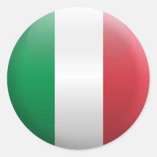 Pegatina Redonda Bandera de Italia
