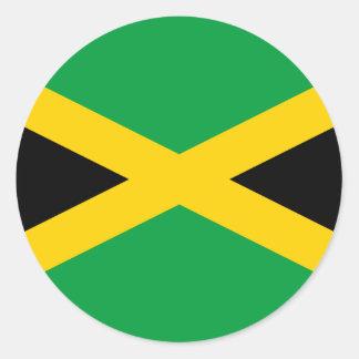 Pegatina Redonda Bandera de Jamaica