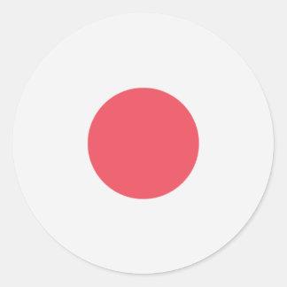 Pegatina Redonda Bandera de Japón