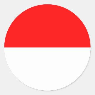 Pegatina Redonda Bandera de la Alsacia-Lorena