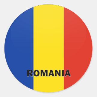 Pegatina Redonda Bandera de la calidad de Rumania Roundel