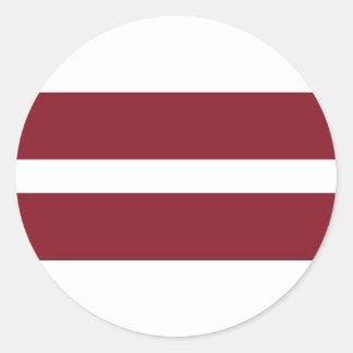 Pegatina Redonda Bandera de Letonia