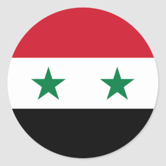 Pegatina Redonda Bandera de Siria
