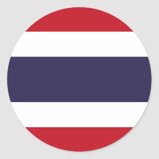 Pegatina Redonda Bandera de Tailandia