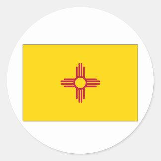 Pegatina Redonda Bandera del estado de New México