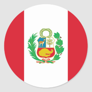 Pegatina Redonda Bandera del Perú - bandera de Perú