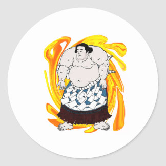 Pegatina Redonda Barrendero del sumo