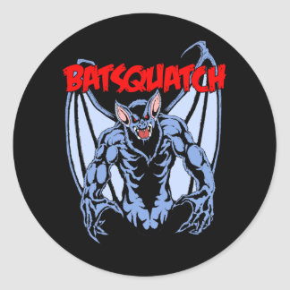 Pegatina Redonda Batsquatch