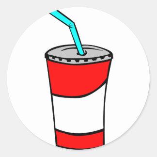 Pegatina Redonda Bebida de los alimentos de preparación rápida