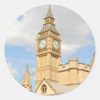 Pegatina Redonda Big Ben en Londres