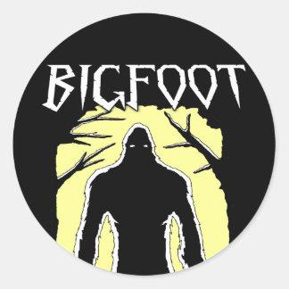 Pegatina Redonda Bigfoot
