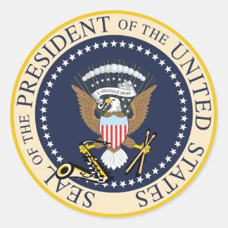 Pegatina Redonda Bill Clinton: Presidente Seal Sticker