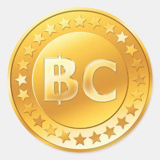 Pegatina Redonda Bitcoin (paquete de 6/20)