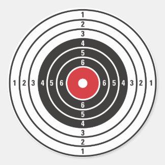Pegatina Redonda Blanco del tiroteo
