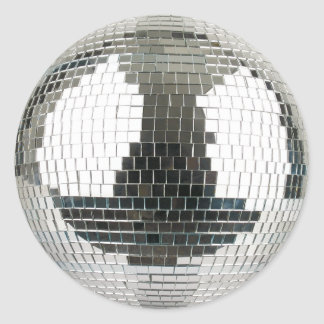 Pegatina Redonda Bola de discoteca de Mirrorball