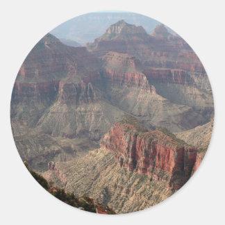 Pegatina Redonda Borde del norte del Gran Cañón, Arizona, los