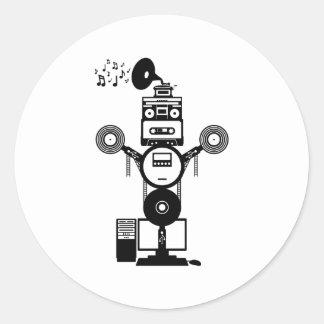 Pegatina Redonda Bot de la música
