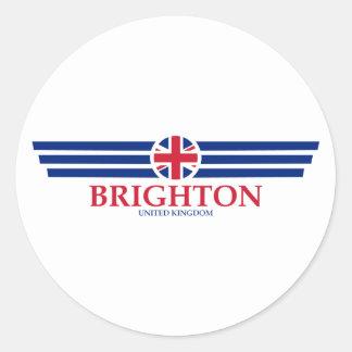 Pegatina Redonda Brighton
