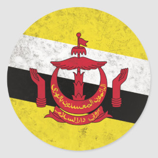 Pegatina Redonda Brunei